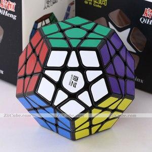 Image 2 - Magie cube puzzle QiYi XMD QiHeng S megaminxeds megamin x stickerless professionelle dodekaeder 12 seiten geschwindigkeit cube spielzeug spiel