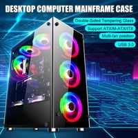 NEW Gamer Cooling Desktop Computer Mainframe Case 350x290x410mm For ATX/ m-atx/mini-itx Motherboard Support 8 Fans
