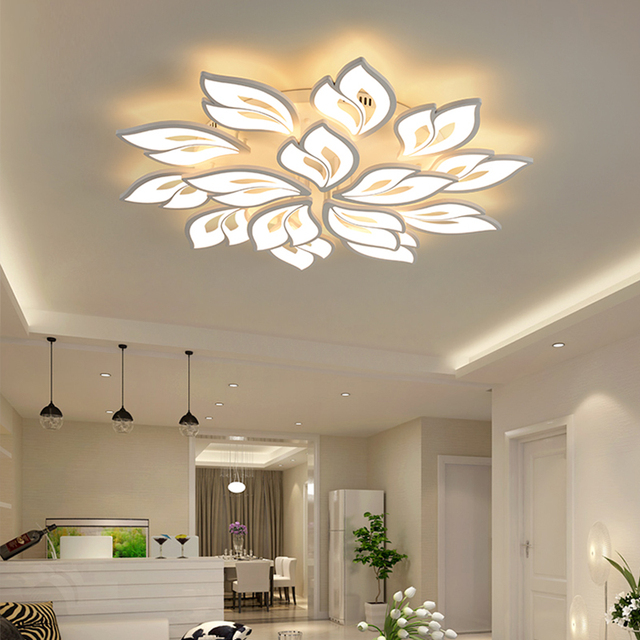 LED Chandelier Indoor Lighting Lustre chandeliers Ceiling With Remote Control Lustres Living Room Bedroom kitchen Fixture Light 3