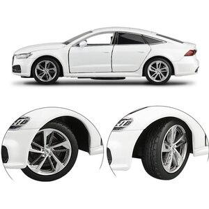 132 Масштаб литой металл игрушечных автомобилей Audi A7 спортивная модель звук и светильник автомобиля с открывающимися дверьми образовательной коллекции подарок V198