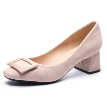 Luxury Women Shoes Pumps Square High Heel Shoes Woman Fashion Pointed Med Slip-On Zapatos De Mujer Ladies Shoes H0002 she era slip on women pumps elegant high heel shoes pointed toe silk ladies shoes woman 2017 d orsay