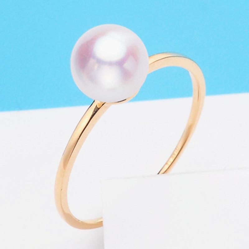 AU750 véritable 18K or jaune anneau résultats ensemble composant de Base AU750 bijoux anneau réglable femmes beau cadeau