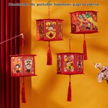 الأحمر الصينية Lanterns بها بنفسك الفوانيس مع زخارف خفيفة ثروة جيدة للسنة الصينية الجديدة الربيع مهرجان فانوس TN99