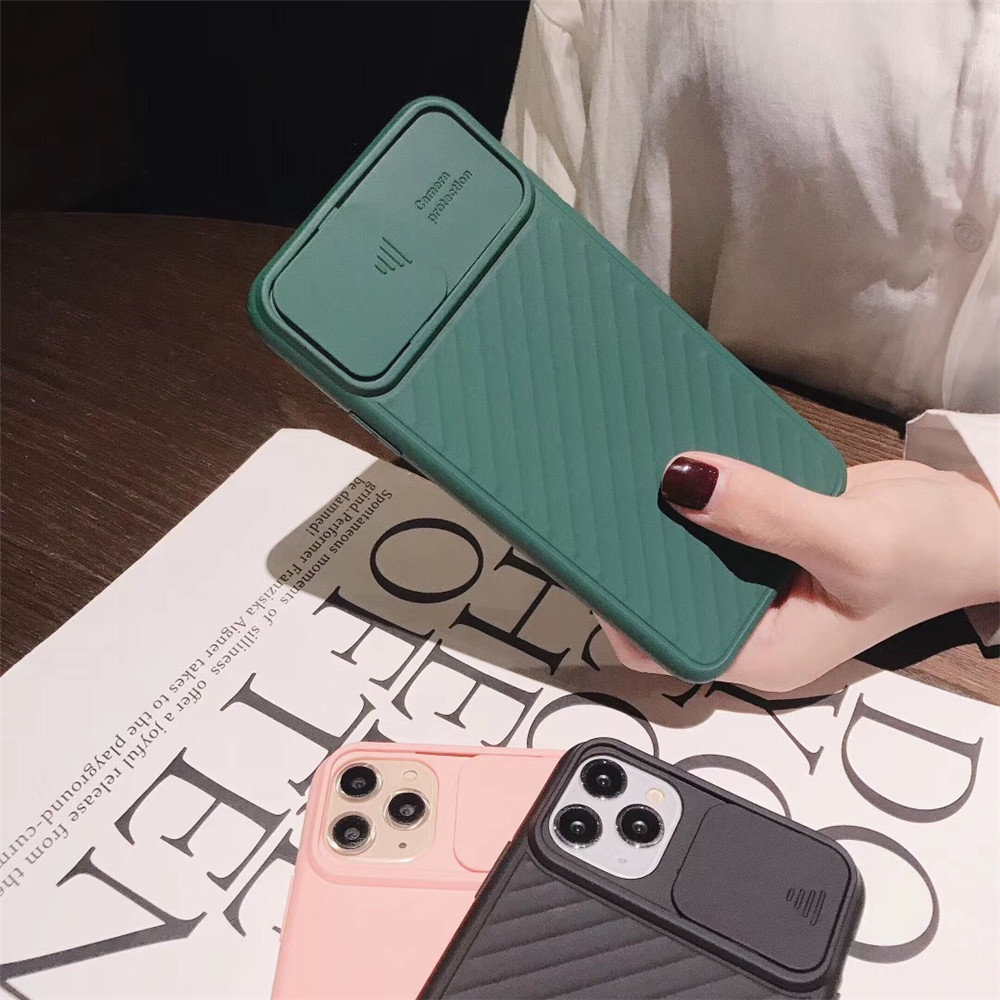 Hab29ff03b40a4d37bc2493254b5d6874c - Lovebay Camera Protection Shockproof Phone Case For iPhone 11 Pro X XR XS Max 7 8 Plus Solid Color Soft TPU Silicone Back Cover