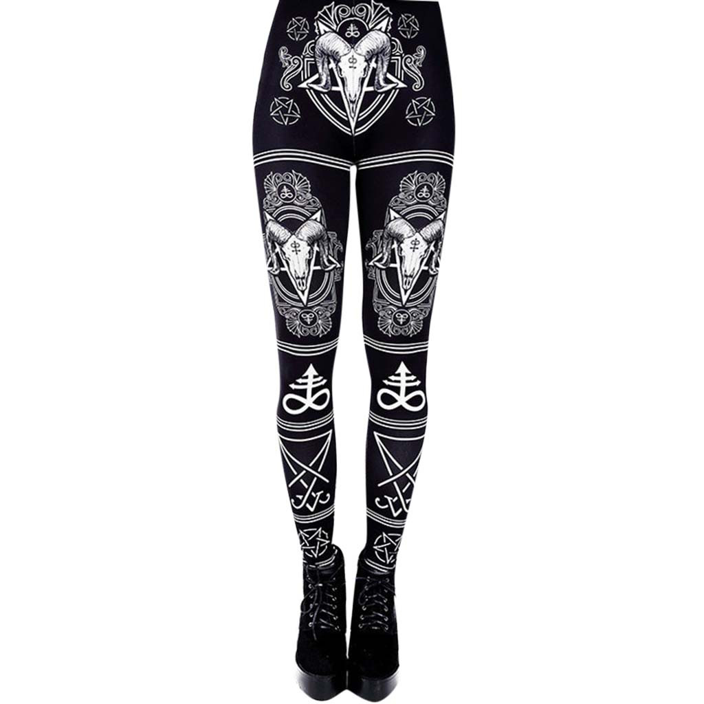 Women 3D Digital Print Leggings High Waist Gothic Silm Pants Push Up Fitness Trouser Female Stretch Punk Rock Leggings #YJ