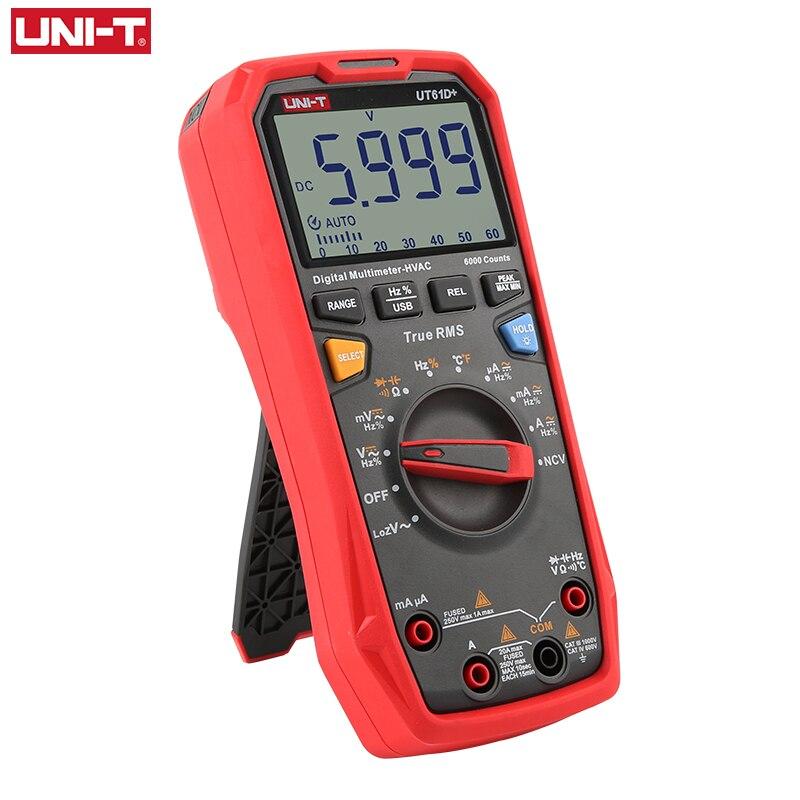 MF Testing UT61E True Digital Auto  UT61D  RMS DC Capacitance Multimeter Handheld 60mF UT61B AC 220 UNI Range 1000V Meter T