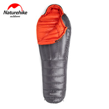 цены Naturehike Ultralight Compact Winter Goose Down Filled Waterproof Camping Sleeping Bag Cold Weather Mummy Hiking Sleeping Bag