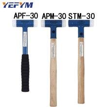 30mm Face Tap Nylon/młotek stalowy do wielofunkcyjnego narzędzia ręcznego twardego plastiku orzech drewno/antypoślizgowy plastikowy uchwyt średnica narzędzia