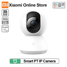 Xiaomi mijia monitor de bebê, wi fi pt com cabeça de berço 1080 câmera panorâmica ip 2mp wi fi áudio bidirecional 360 câmera da web do ir do ângulo