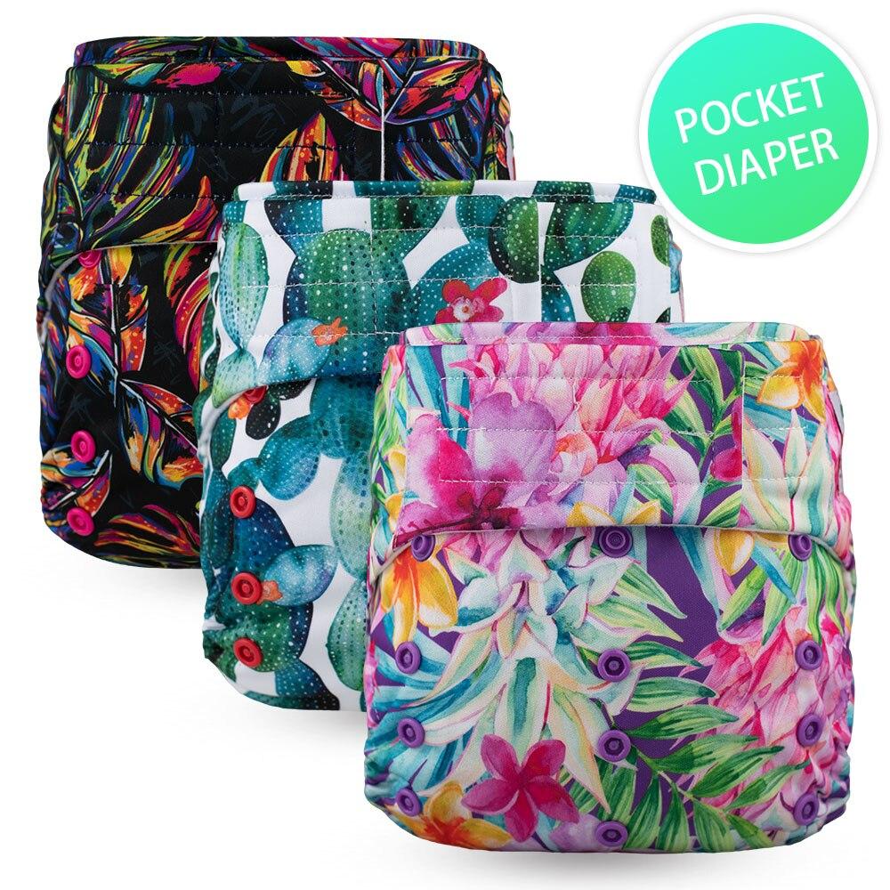 Hook & Loops Baby Pocket Diaper - Suede Cloth Inner Waterproof Washable Reusable Boy Girl 4-16kg Eco Friendly
