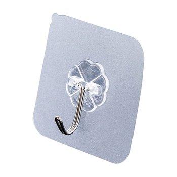 10pcs Adhesive Wall Hooks Wall Hangers Waterproof Sticky Hooks Towel Hooks