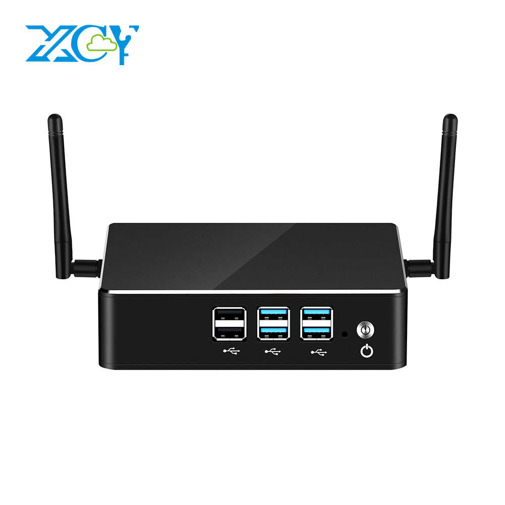 Xcy Intel Mini PC Core I7 8550U I5 I3 Menang Windows 10 4K HTPC Wifi Minipc Komputer Desktop Gaming minicomputer Micro Cadeira