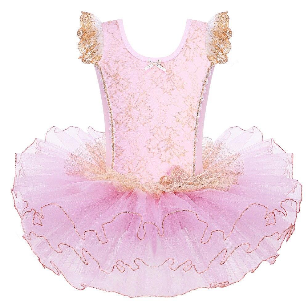 BAOHULU Kids Cotton Ballet Dress Sleeveless Bow Pink Gymnastics Leotard Wedding Ceremony Birthday Ballet Tutu Girls Ballet Skirt