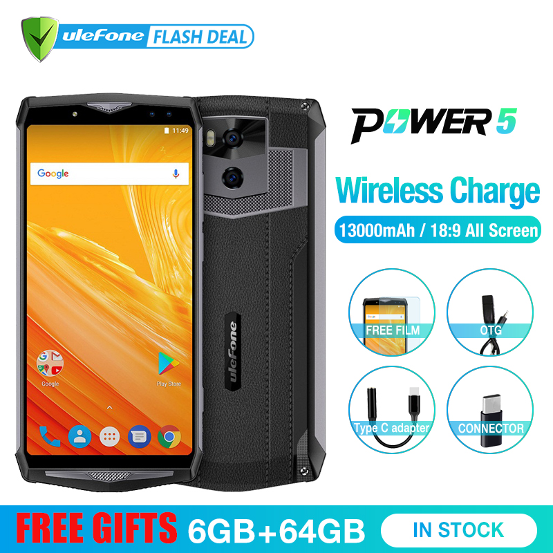 Ulefone 5 Poder 13000mAh 4G Smartphones 6.0