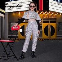 Baby Children Jazz Dance Suit Girls Hip Hop Hip hop Costumes Models Catwalk Catwalk Fashion Tide Cool Kids Clothes Full Length