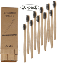 10pcs Bamboo Charcoal Toothbrushes Soft Bristles Eco Friendly Oral Care Travel Tooth Brush denture cleaning brush multi layered bristles false teeth brush oral care tool bristles page 8