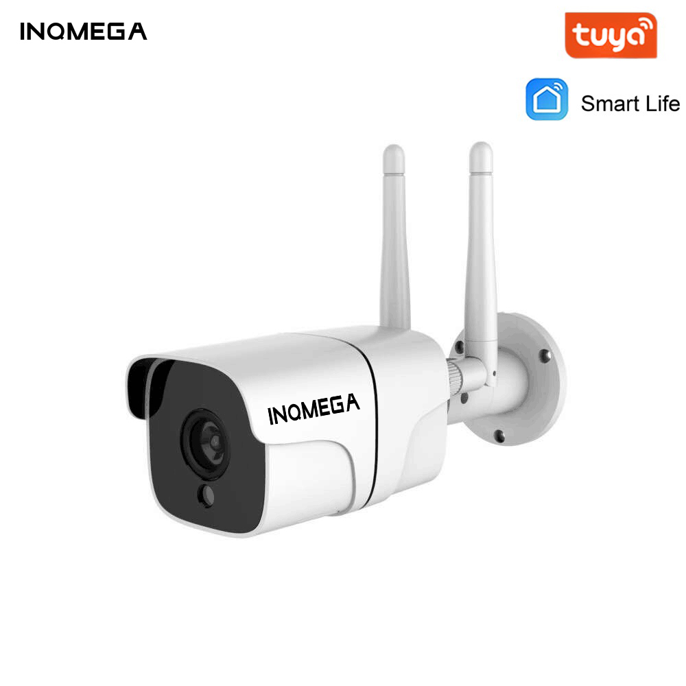 INAMEGA WiFi Tuya Camera HD 4MP Wireless Bullet IP Security Camera Heavy-duty Metal Outdoor Waterproof Night Vision Kamera
