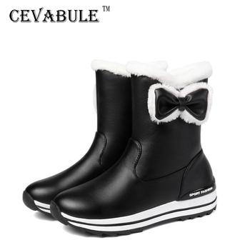 Kobiety do połowy łydki ciepłe buty obcas buty Casual na biegunach buty śnieg buty dla rodziców i buty dziecięce krótkie buty buty białe buty TYX tanie i dobre opinie cevabule Klinowe BUTY NA ŚNIEG RUBBER CN (pochodzenie) Zima PŁÓTNO Do kolan Styl uliczny Platforma Stałe Dla osób dorosłych