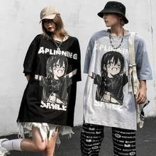 Women Casual TShirt White Cartoon Funny Girl Printed Streetwear Female Tops Tee Short Sleeve Fashion T Shirt Hip Hop Clothes