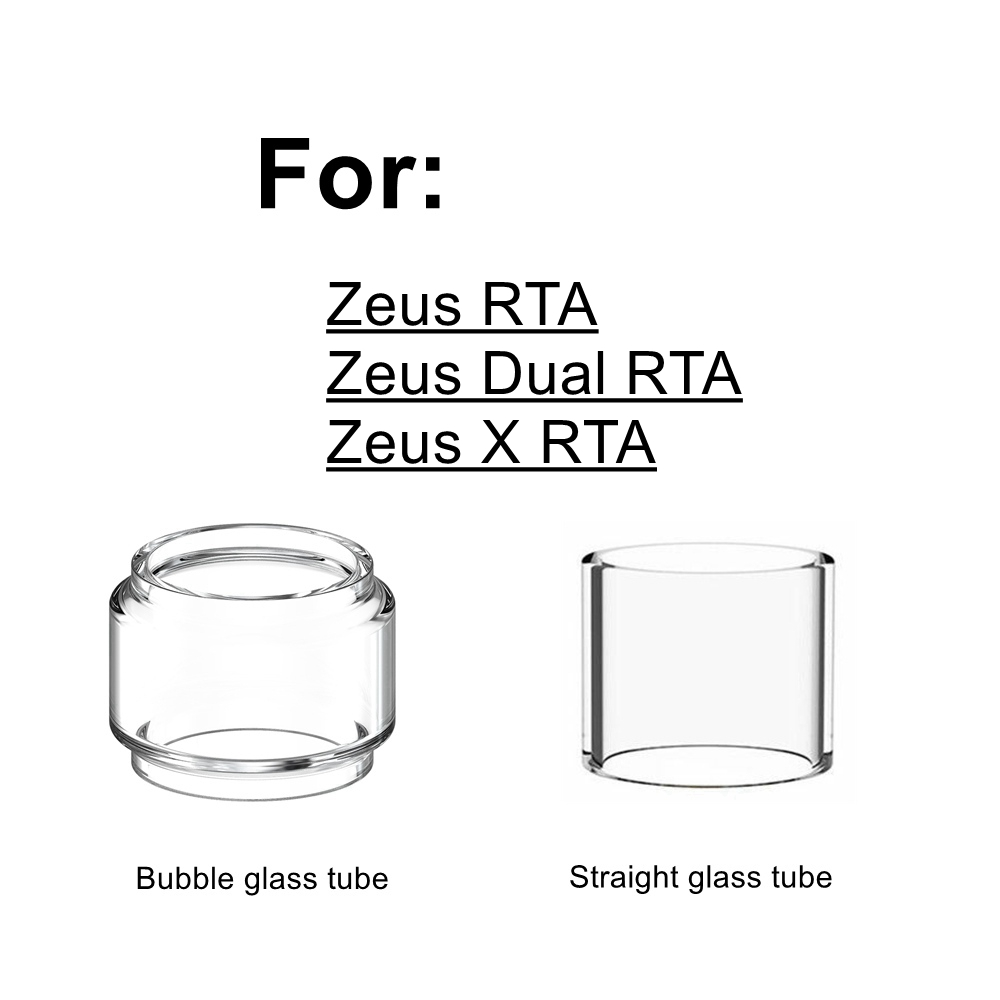 HXJVAPE Original Pyrex Bubble Bulb Glass Tube Tank Fit For Geekvape Zeus/ Zeus X/Zeus Dual Coil RTA Atomizer TANK