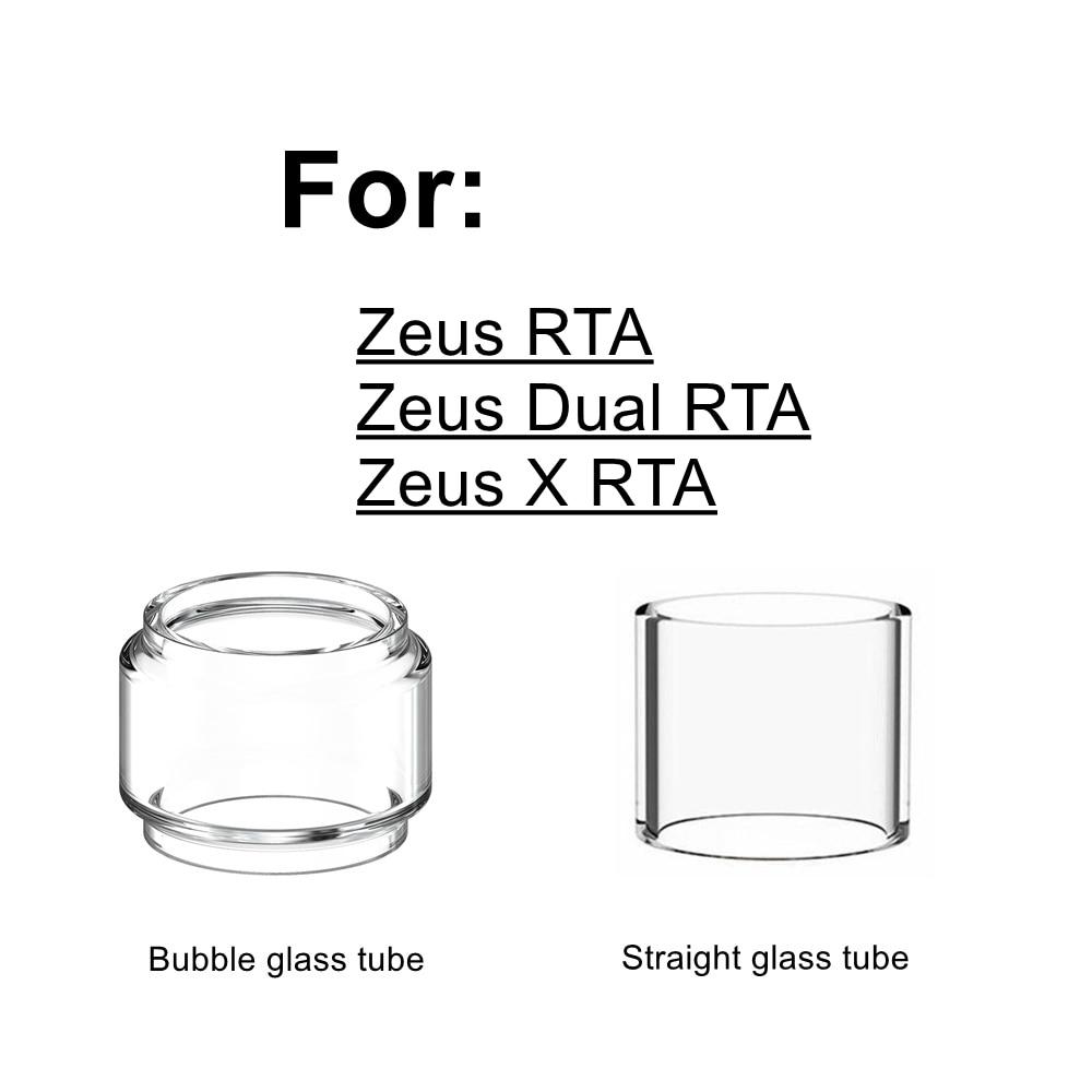 HXJVAPE Original Pyrex Bubble Bulb Glass Tube Tank Fit For Geekvape Zeus/ Zeus X/Zeus Dual Coil RTA Atomizer TANK