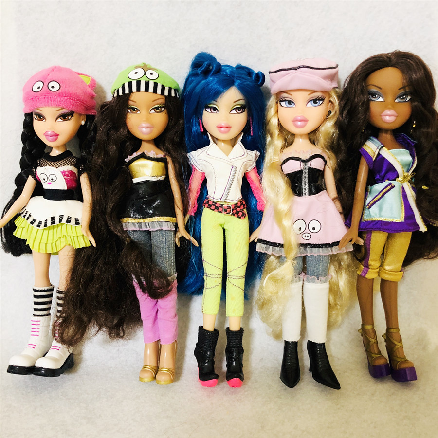 New Original Cute Mgadoll Bratz Doll Blue Hair  Big Lips  Beautiful And Fashionable Girl Doll Best Gift For Child