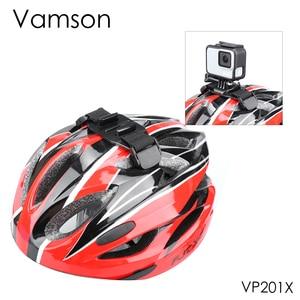 Image 1 - Vamson עבור ללכת פרו גיבור 7/6/5/8 מתכוונן אופני קסדת ראש רצועת חגורת הר בעל מתאם עבור Xiaomi יי 4K אוסמו פעולה VP201X