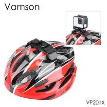 Vamson dla Go Pro Hero 7/6/5/8 regulowany kask rowerowy pasek pas na głowę uchwyt Adapter do Xiaomi Yi 4K OSMO Action VP201X