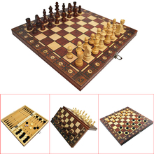 Wooden Chess Backgammon Checkers Magnetic Ancient Super Travel 3-In-1