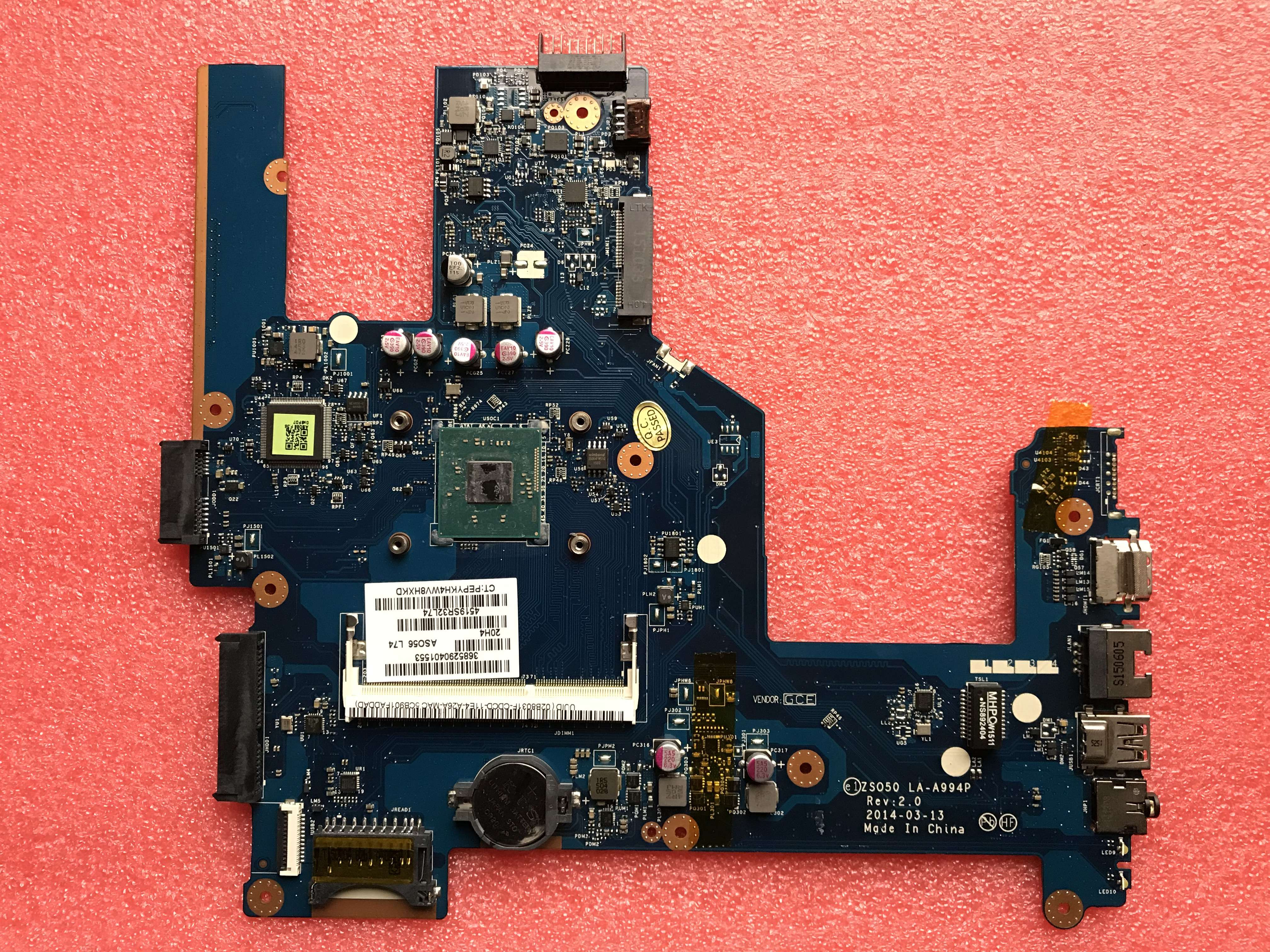 788289-501 788289-001 for 15-R 15T-R 15-s laptop motherboard <font><b>ZS050</b></font> <font><b>LA</b></font>-<font><b>A994P</b></font> with SR1YJ N2840 CPU 100% fully tested image
