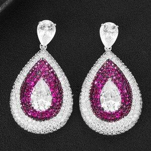 Image 4 - GODKI 2020 Red Carpet Famous Brand Waterdrop Earrings For Women BOHO Crystal CZ Drop Earrings Brincos Fashion Tortoise Jewelry