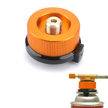 Hiking-Equipment Cartridge Auto-Off-Tank-Adapter Gas-Furnace Aluminum-Stove Outdoor Camping