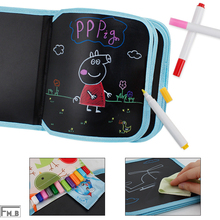 Portable Canvas Repeatable Wipe Drawing Book Board(with 12 colored pen)