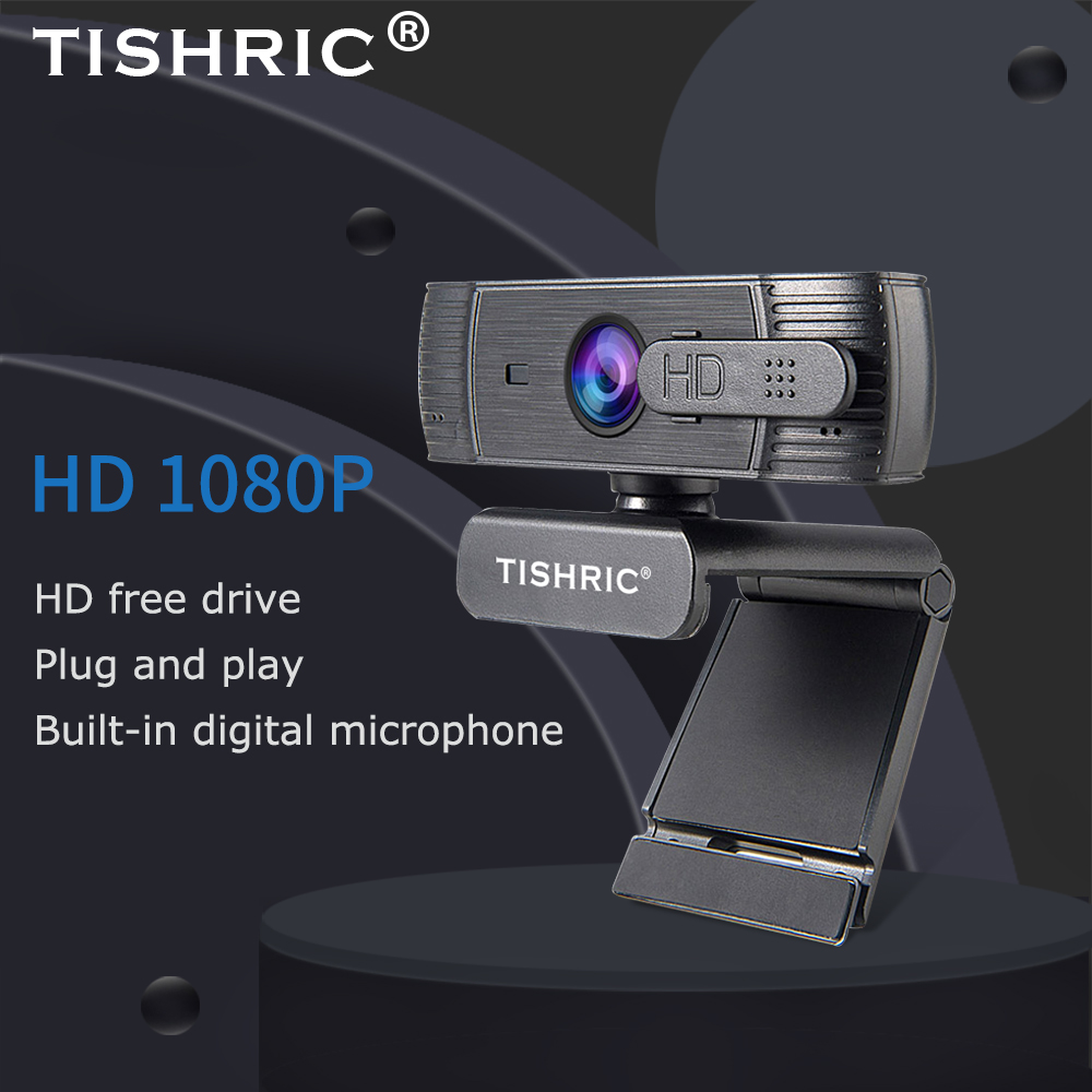 TISHRIC H701 Web Cam 1080P Auto Focus Web Camera for Computer Full HD 1920*1080P Webcam For PC USB Camera with Microphone 1