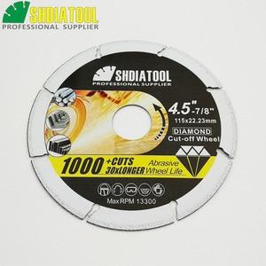 Image 4 - SHDIATOOL 1pc 4.5/ 5 Vacuum Brazed Diamond Metal Cutting  Blades Steel Tube, Iron Rebar Cut off Saw Wheel Disc Angle Steel