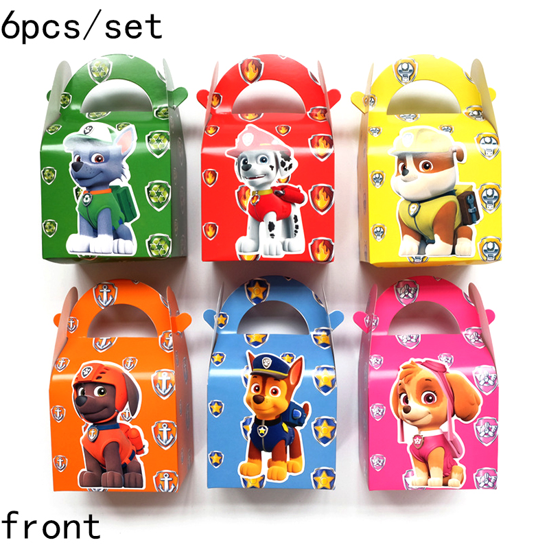 6pcs Paw Patrol Cake Card Fruit Plug-in Children Birthday Party Supplies Plugin Puppy Patrol Birthday Toys Set 17CM