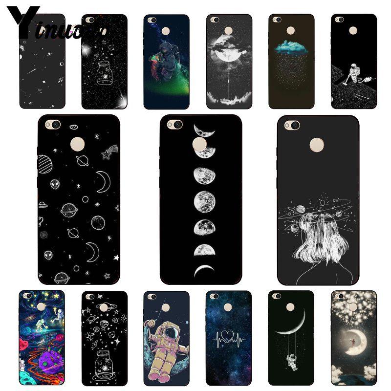 Чехол Yinuoda для телефона с небесным космосом, планетой, черным, белым солнцем, луной, звездами для Xiaomi mi5 6 A1 A2 Lite Mi9 9SE mi8lite F1 Mix2 2 2S Max2 3