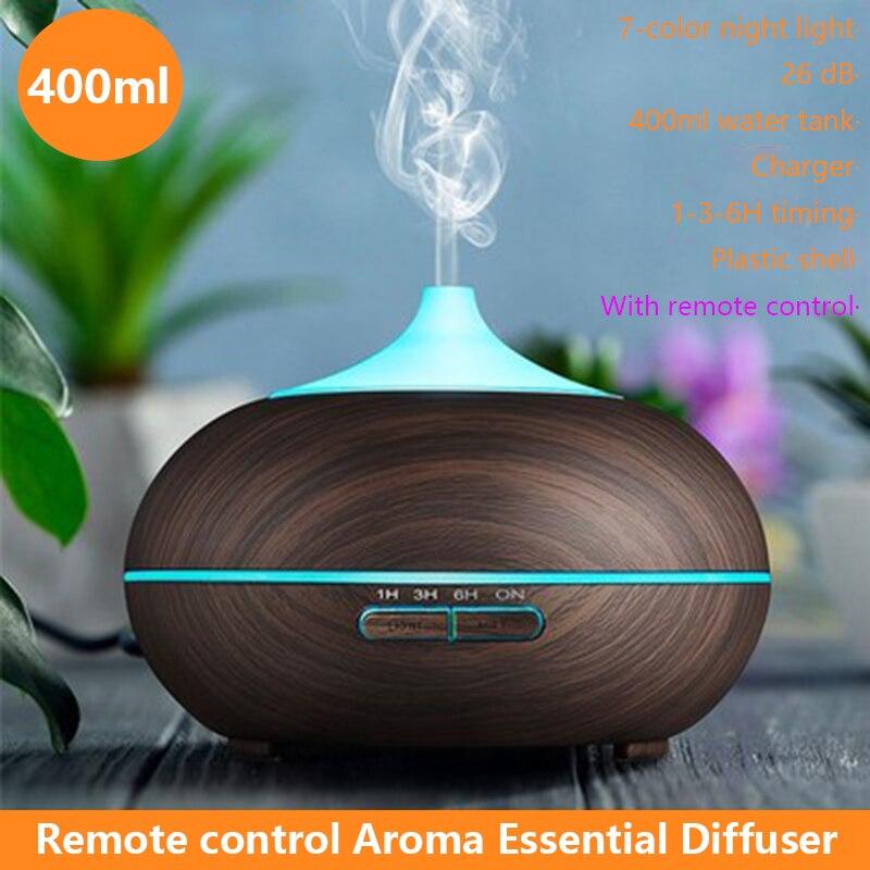 Electric Aroma Diffuser Ultrasonic xaomi Air Humidifier LED Lamp Aromatherapy Mist Maker Remote Control Essential Oil Diffuser