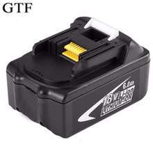 GTF 18V 6000mAh Power Tool Battery Pack for Makita BL1850 BL1860 Replacement Battery 18V 6.0Ah Rechargeable Li-ion Battery 3pcs 18v bl1860 li ion 6000mah replacement for makita 18v bl1840 bl1830 bl1850 rechargeable power tool battery with usb adapter