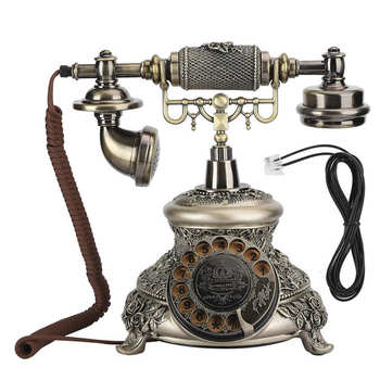 MS-5700D Resin Classical Vintage Turntable Dial Antique Rotation European Telephone VintageTelephone Turntable telefono