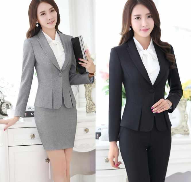 レディースフォーマルなワークパンツスーツ黒グレー赤オフィスレディースブレザーセット 2 枚のジャケットズボンプラスサイズ制服パンツスーツ 4XL 5XL