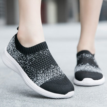 Women Shoes Sneakers Trainers Slip-On Mesh Summer Breathable Outdoor Big-Size