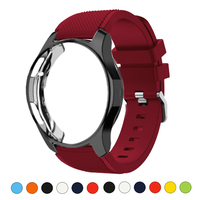 Silikon Fall + band Für Samsung Galaxy uhr 46mm/42mm strap Getriebe S3 Frontier Band Sport armband + Protector uhr fall 42/46mm