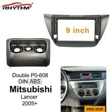 Konsola samochodowa zestaw do przycinania dla Mitsubishi Lancer 2005 06 07 08 09 10 11 12 + 2019 podwójny Din rama samochodu Audio adapter montażowy deski rozdzielczej