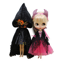 Girl Gift Dress Clothes-Mask Dollhalloween-Clothes Dbs Blyth Pink Icy Vampire Grey 1/6