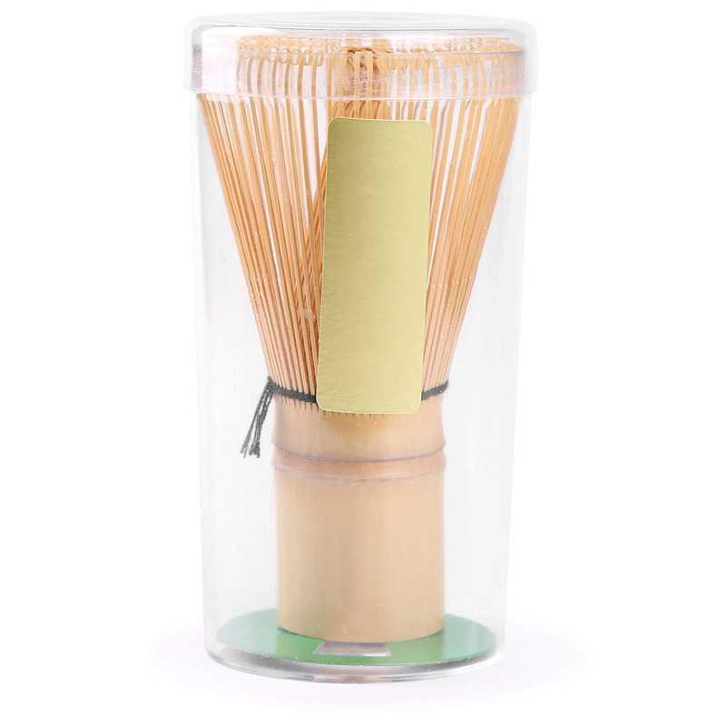 Matcha Whisk ชุดไม้ไผ่ Matcha ชาชุด 4 รวม 100 PRONG Matcha Whisk (Chasen), scoop แบบดั้งเดิม (Chashaku),ช้อนชา,
