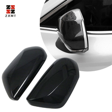 ZXMT 2Pcs Carbon Fiber Car Style Rearview Mirror Cover Trim FOR TOYOTA CAMRY 2018 Rear View Mirror Case Covers Caps zxmt 2pcs carbon fiber interior steering wheel button frame cover for toyota camry 2018 accessories