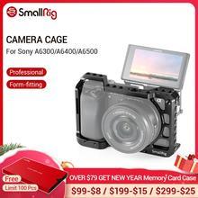 SmallRig a6400 כלוב עבור Sony A6300/ A6400 /A6500 מצויד צורה DSLR מצלמה כלוב עם 1/4 ו 3/8 השחלה חורים 2310