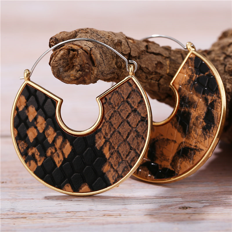 Hab2ce38aebcc4b1892c12b6e2448bf8de - IF ME Fashion Leather Circle Hoop Earrings Big Round Korean Earring Alloy Metal Red Colorful Brincos 2020 New Jewelry Gift