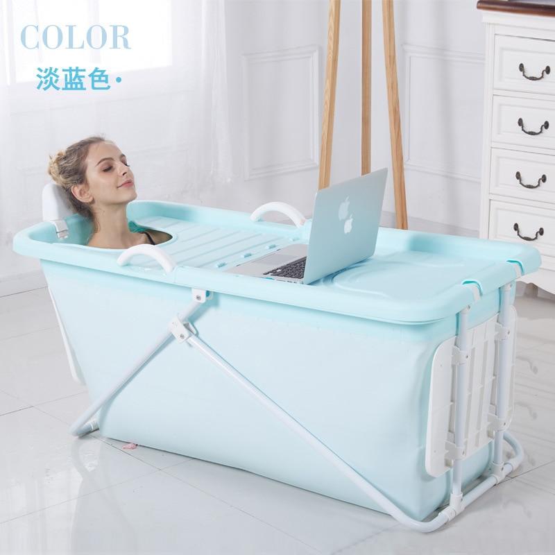 Большая складная пластиковая ванночка для взрослых
